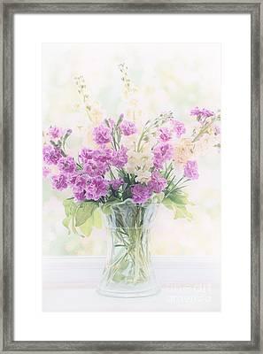 Vase Of Flowers Framed Print by Natalie Kinnear