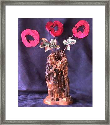 Vase Of Flowers Framed Print by Tanna Lee M Wells