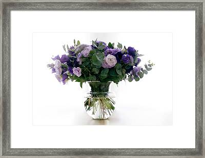 Vase Of Flowers Framed Print by Ton Kinsbergen/science Photo Library