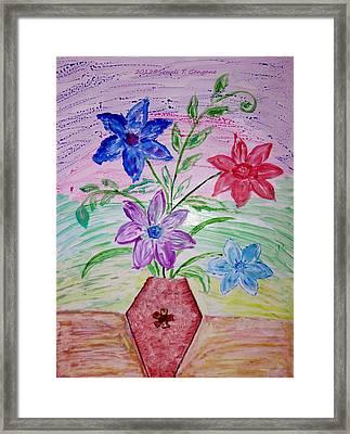 Vase Of Happiness Framed Print