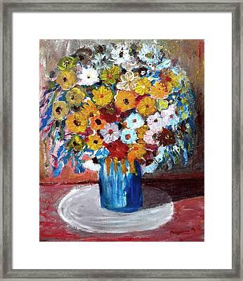 Vase Of Spring Framed Print by Mauro Beniamino Muggianu