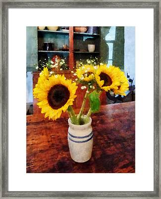 Vase Of Sunflowers Framed Print