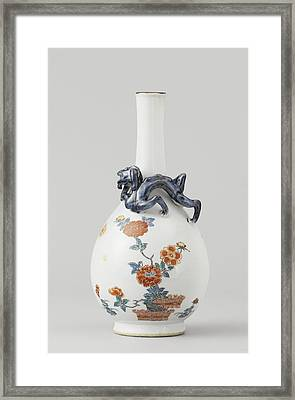 Vase, Pear-shaped With Long Neck, Anonymous Framed Print