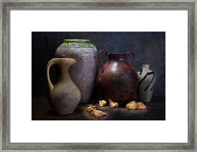 Vases And Urns Still Life Framed Print by Tom Mc Nemar