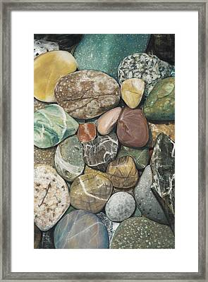 Vashon Island Beach Rocks Framed Print
