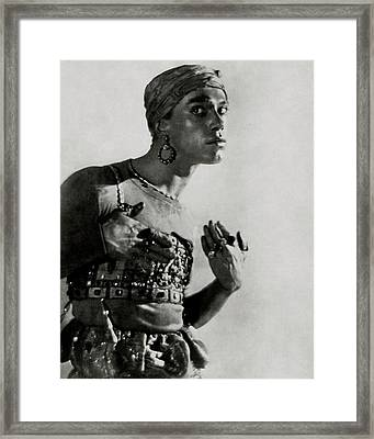 Vaslav Nijinsky In Costume Framed Print