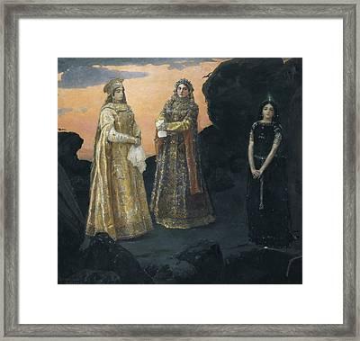 Vasnetsov, Viktor 1848-1926. Three Framed Print