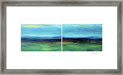 Vast Horizon Framed Print by Dick Bourgault