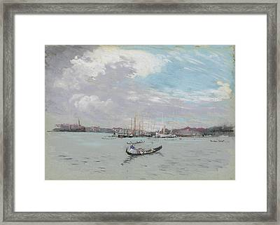 Vast Lagoon Outside Venice Circa 1901 Framed Print by Aged Pixel