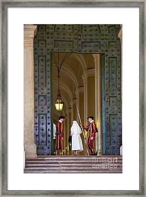 Vatican Entrance Framed Print by Brian Jannsen