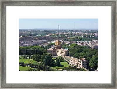 Vatican Radio. Framed Print