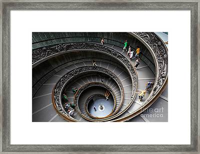 Vatican Spiral Staircase Framed Print by Inge Johnsson