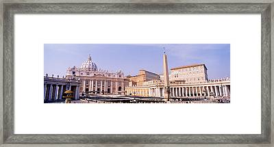 Vatican, St Peters Square, Rome, Italy Framed Print