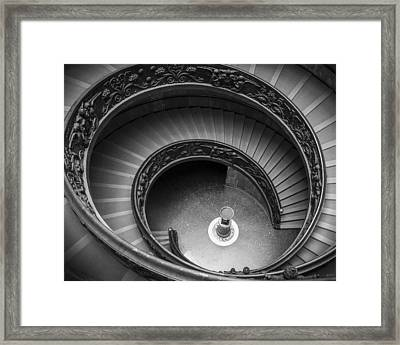 Vatican Stairs Framed Print by Adam Romanowicz