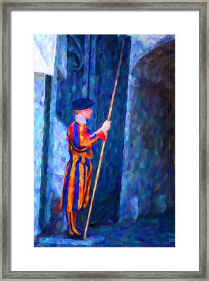 Vatican Swiss Guard Framed Print by Hakon Soreide