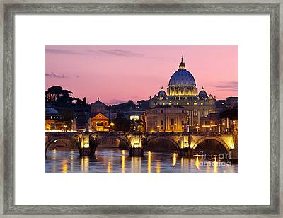 Vatican Twilight Framed Print by Brian Jannsen