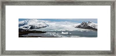 Vatnajokull Ice Cap And Glacier Framed Print by Jeremy Walker