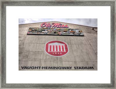 Vaught Hemmingway Stadium Framed Print by JC Findley