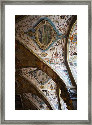 Vaulted Ceiling Of The Antiquarium Framed Print by Panoramic Images