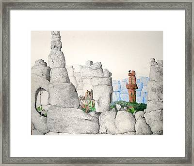 Vaulting Framed Print