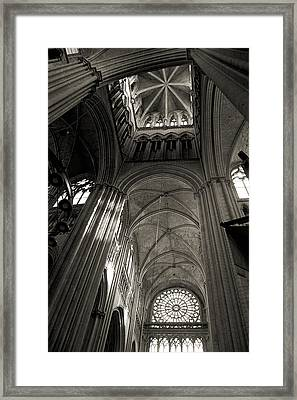 Vaults Of Rouen Cathedral Framed Print by RicardMN Photography