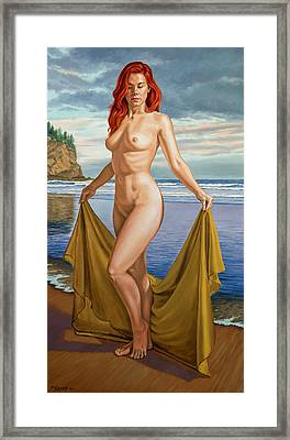 Vaunt At The Beach Framed Print