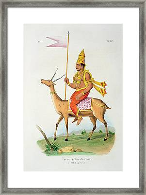 Vayu, Engraved By C. De Motte Framed Print by French School