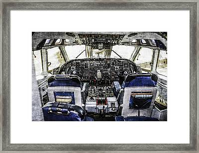 Vc10 Flight-deck Framed Print