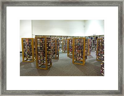 Vcr Tapes Framed Print by Devinder Sangha