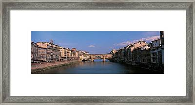 Vecchio Bridge Florence Italy Framed Print by Panoramic Images