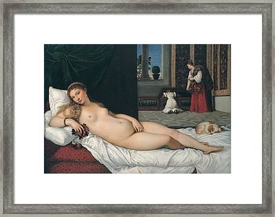 Vecellio Tiziano Known As Titian, Venus Framed Print by Everett