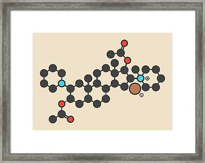 Vecuronium Bromide Molecule Framed Print