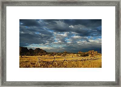 Vedauwoo Sky Framed Print by Aaron Bedell