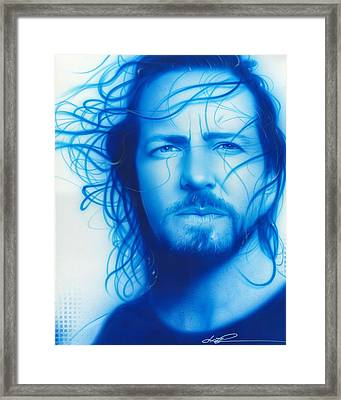 Eddie Vedder - ' Vedder ' Framed Print by Christian Chapman Art