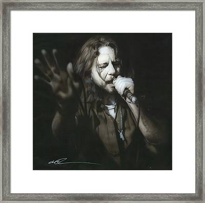 Eddie Vedder - ' Vedder IIi ' Framed Print by Christian Chapman Art