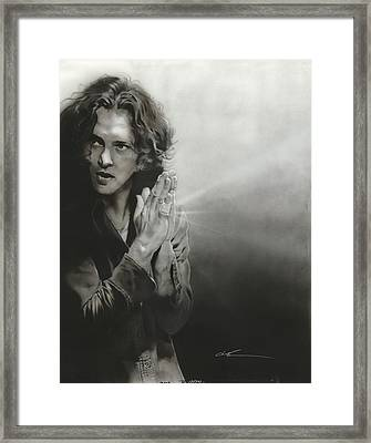Eddie Vedder - ' Vedder Iv ' Framed Print by Christian Chapman Art