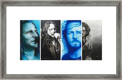 Eddie Vedder - ' Vedder Mosaic I ' Framed Print by Christian Chapman Art