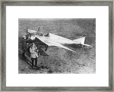 Vedrines And His Military Aircraft, 1910s Framed Print by Library Of Congress