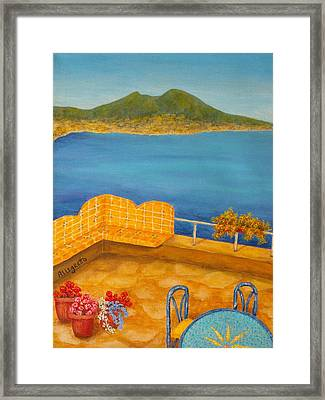Veduta Di Vesuvio Framed Print by Pamela Allegretto