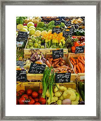 Veg At Marche Provencal Framed Print