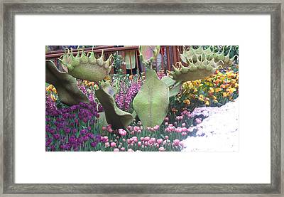Framed Print featuring the photograph Vegas Butterfly Garden Flowers Cactus Romanti Interior Decorations by Navin Joshi