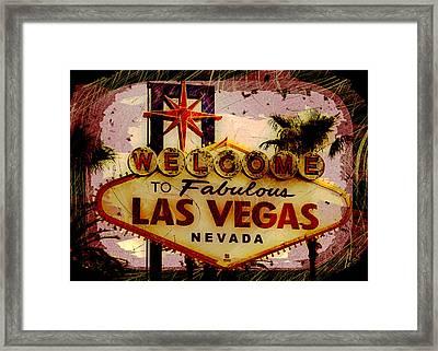 Vegas Destructed Framed Print