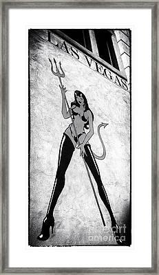 Vegas Diablo Framed Print by John Rizzuto