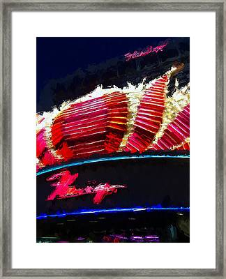 Vegas Flamingo Hotel Framed Print by Lin Pacific
