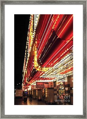Vegas Neon Framed Print by John Rizzuto