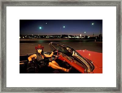 Vegas Night Framed Print by Christian Heeb