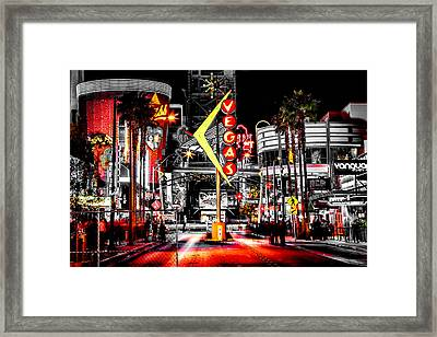 Vegas Nights Framed Print by Az Jackson