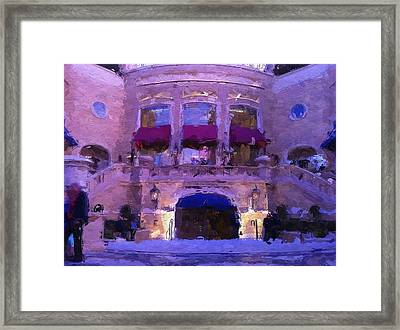 Vegas Palazzo Hotel Framed Print by Lin Pacific