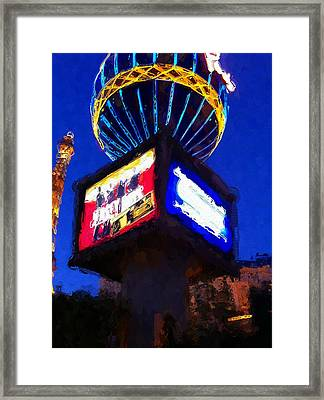Vegas Paris On The Strip Framed Print by Lin Pacific