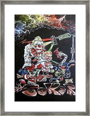 Vegas Playing Card  Framed Print by Makie Evans